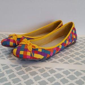 NEIMAN MARCUS Size 9M Bandana Ballerina Flats